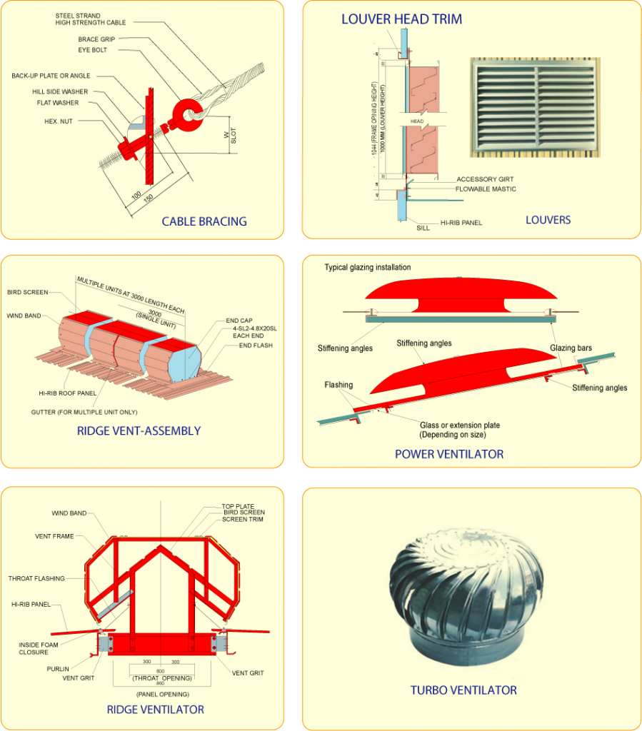 Bracing, Louver & Ventilator Systems